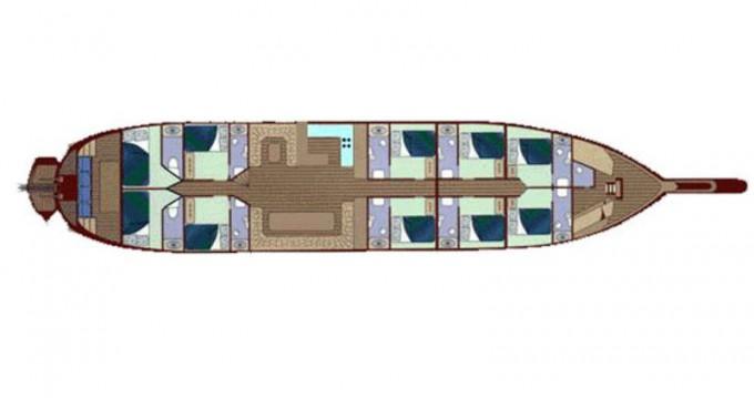 Location bateau Bodrum pas cher Gulet Techne
