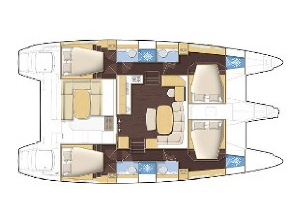 Location yacht à PREVEZA MARINA - Lagoon Lagoon 421 sur SamBoat