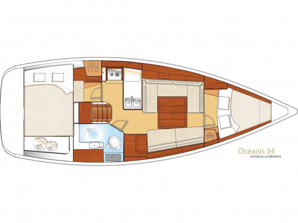 Location bateau Bénéteau Oceanis 34 à Lefkada sur Samboat