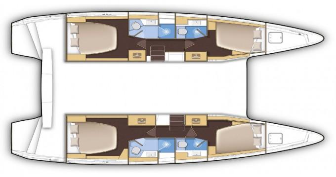 Location Catamaran à Porto Pozzo - Lagoon Lagoon 42