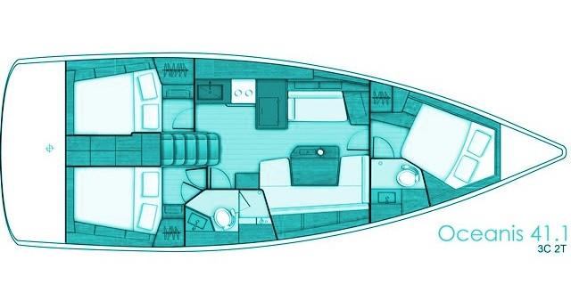 Location bateau Bénéteau Oceanis 41.1 à Volos sur Samboat