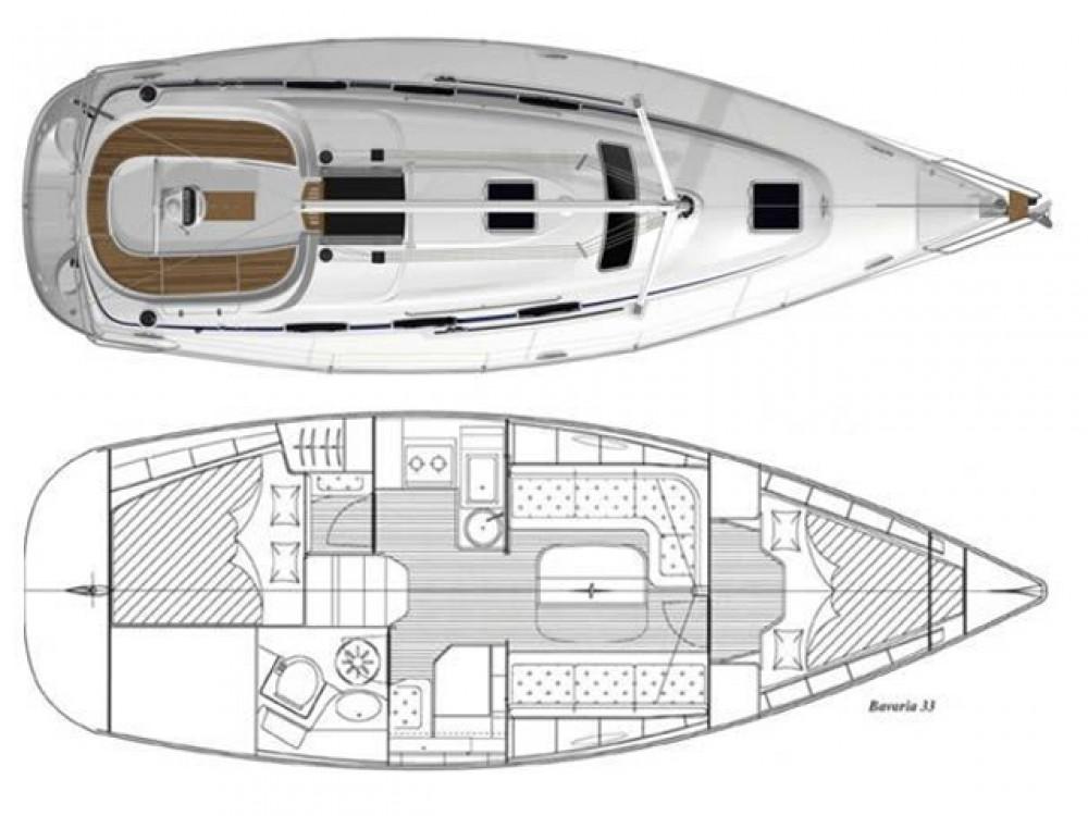 Location bateau Split pas cher Bavaria 33 Cruiser