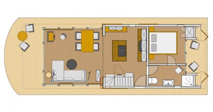 Location bateau Neuhof pas cher House Yacht Devin 1.5