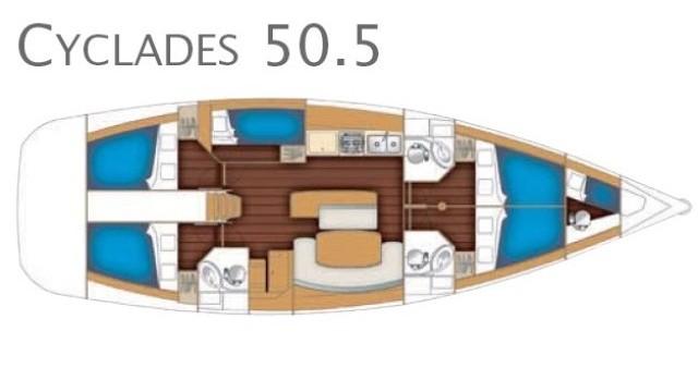 Location bateau Marina di Portorosa pas cher Cyclades 50.5