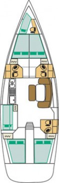 Location yacht à Marina di Portorosa - Bénéteau Cyclades 50.5 sur SamBoat