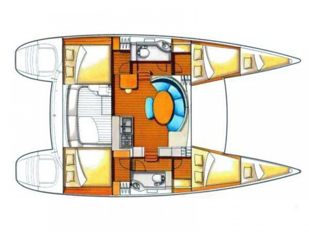 Location yacht à Sant Antoni de Portmany - Lagoon Lagoon 380 S2 sur SamBoat
