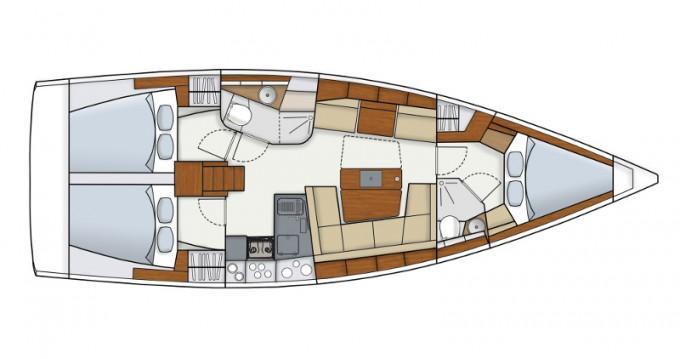 Location bateau Hanse Hanse 415 à Sant Antoni de Portmany sur Samboat