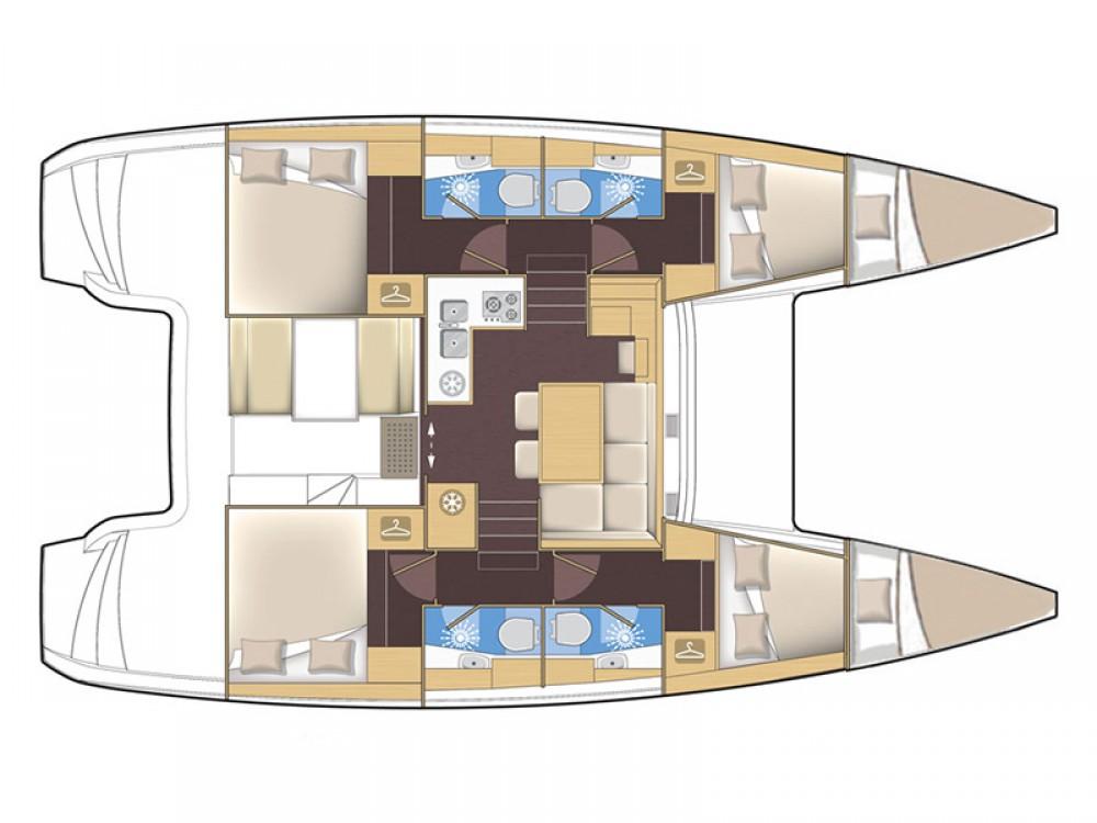Location bateau Lagoon Lagoon 39 2016 à Sibenik sur Samboat