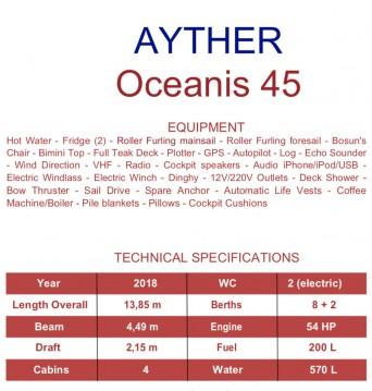 Location bateau Salerno pas cher Oceanis 45