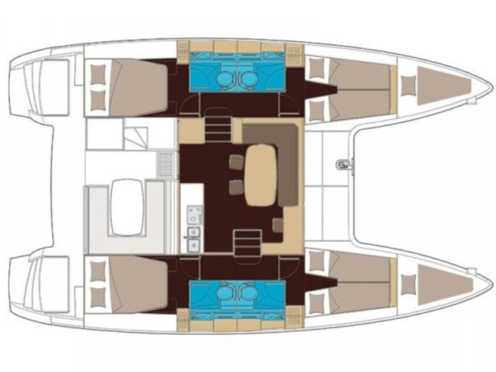 Location bateau Capo d'Orlando pas cher Lagoon 400 S2