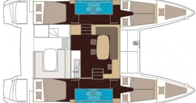 Location bateau Lagoon Lagoon 400 S2 à Capo d'Orlando sur Samboat
