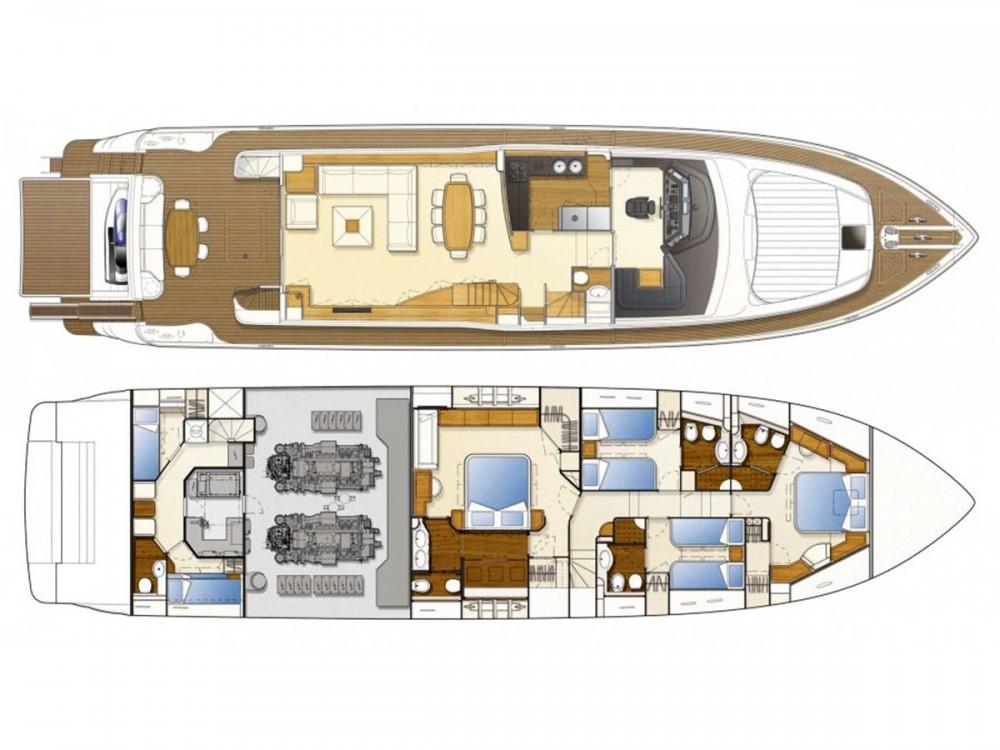 Location yacht à Muğla - Ferreti Ferretti 830 sur SamBoat