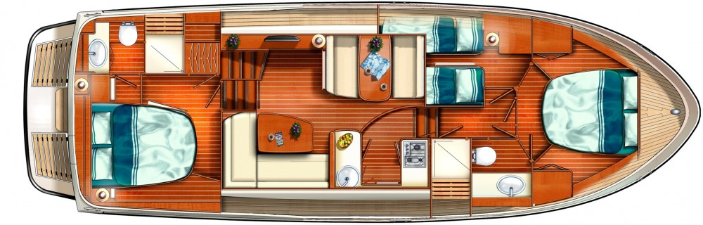 Location bateau Linssen Linssen GS 40.9 AC à  sur Samboat