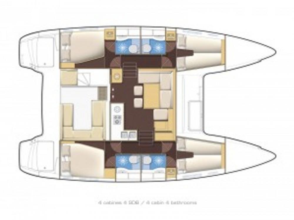 Location yacht à  - Lagoon Lagoon 400 S2 sur SamBoat