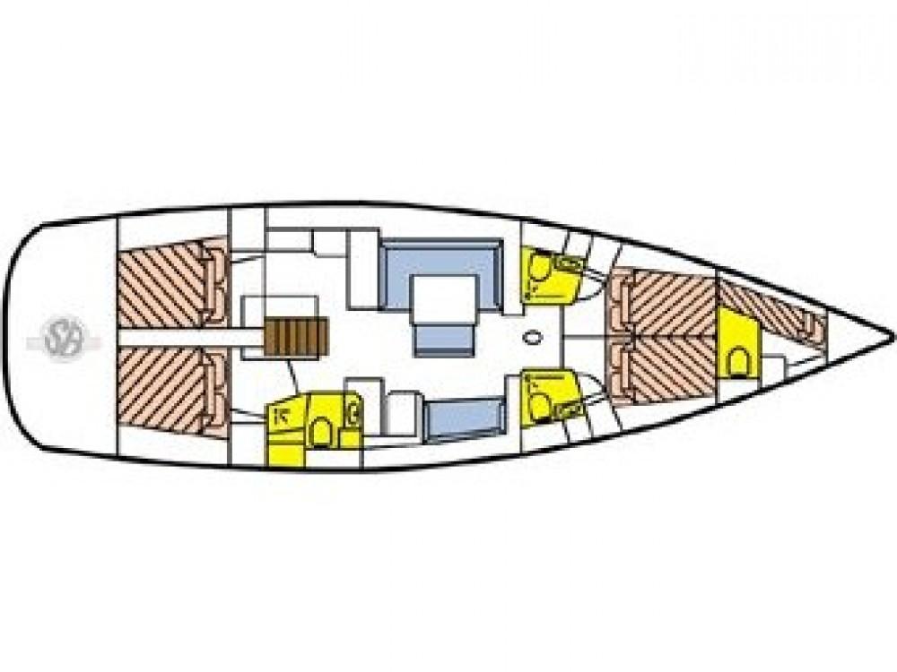 Location bateau Le Marin pas cher Oceanis 54