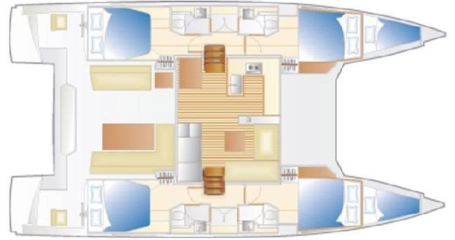 Location bateau Cannigione pas cher Nautitech 46 Fly