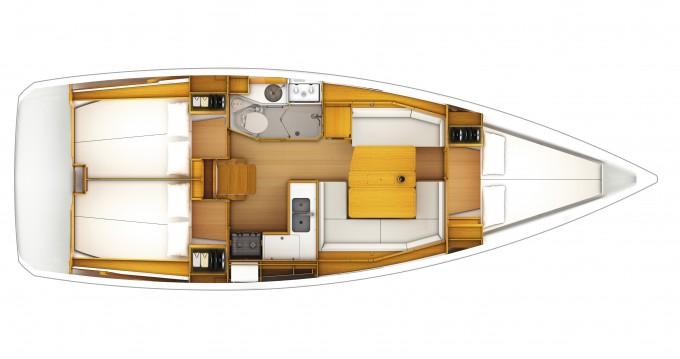Location bateau Dubrovnik pas cher Sun Odyssey 389