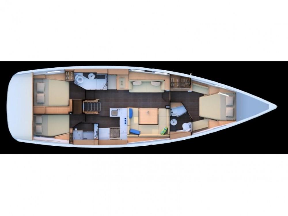 """Location bateau Split pas cher Jeanneau 51 """"LUXE"""""""