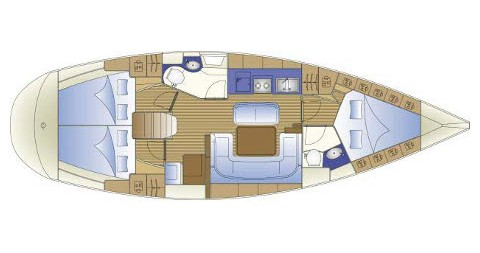 Location bateau Trogir pas cher Bavaria 41