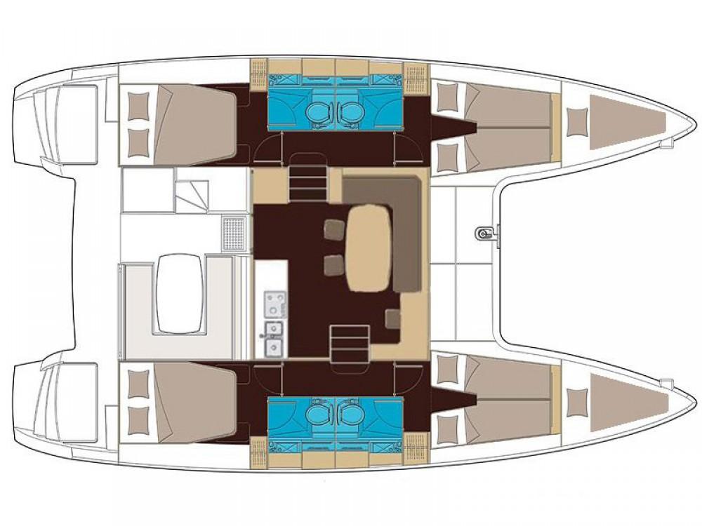 Location bateau Lagoon Lagoon 400 S2 à Álimos sur Samboat