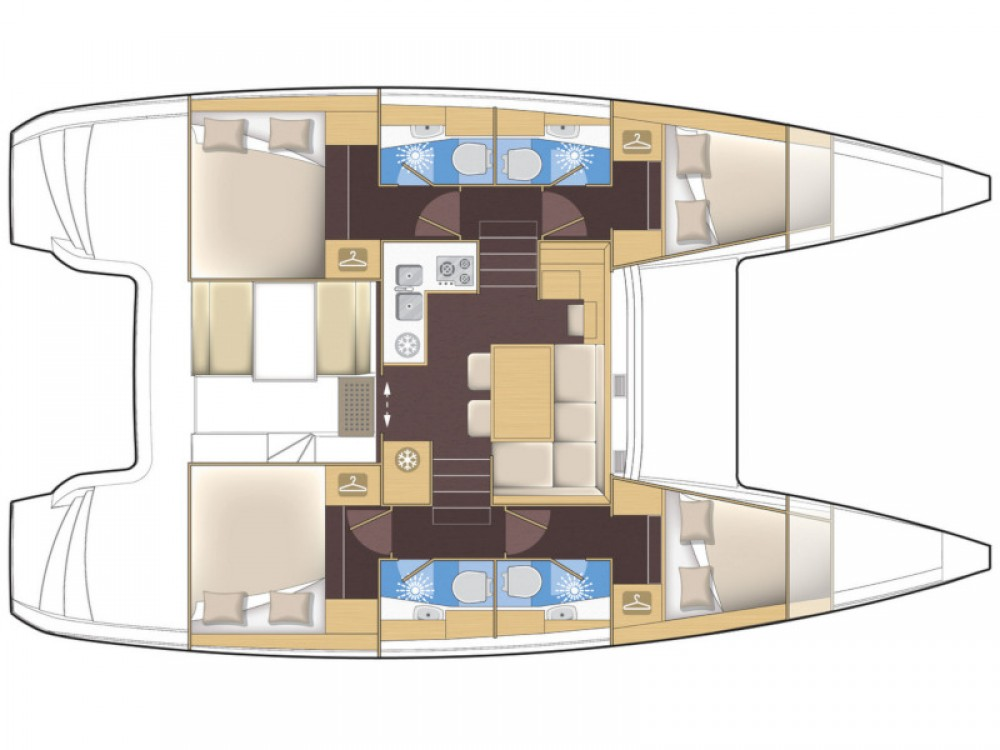 Catamaran à louer à Rodas au meilleur prix