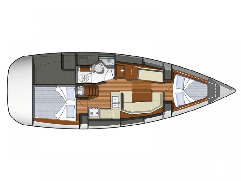 Location bateau Jeanneau Sun Odyssey 36i-2 cbs à Marina de Alimos sur Samboat