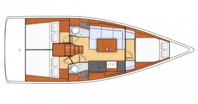 Location bateau Pomer pas cher Oceanis 38