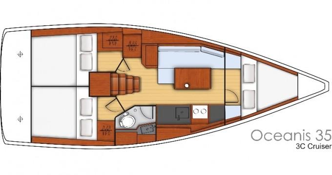 Location bateau Pomer pas cher Oceanis 35