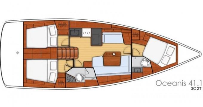 Location bateau Lefkada (Île) pas cher Oceanis 41.1