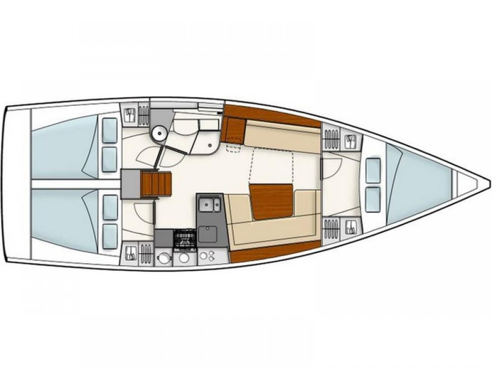 Location bateau Álimos pas cher Hanse 385