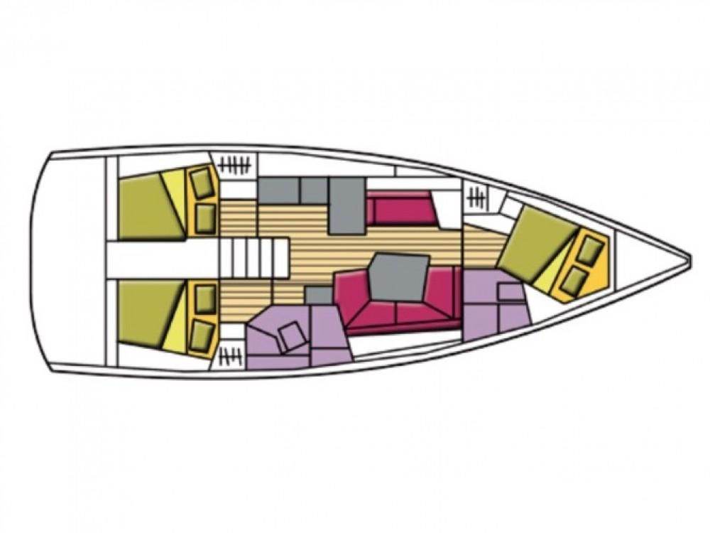 Location bateau Olbia pas cher Oceanis 41.1