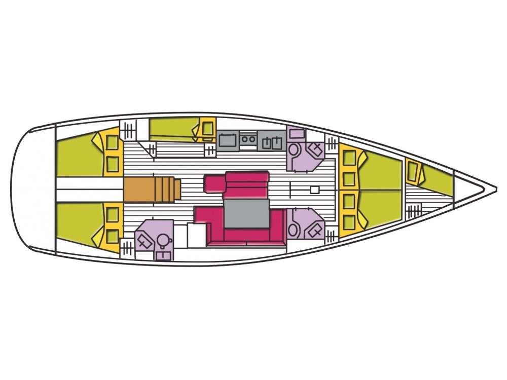 Location yacht à Cala dei Sardi - Bénéteau Oceanis 50 Family sur SamBoat