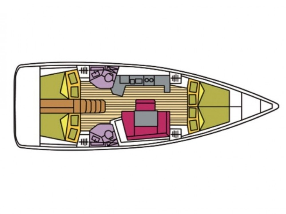 Location bateau Bénéteau Oceanis 45 à Cala dei Sardi sur Samboat