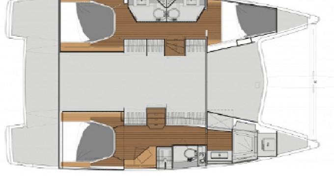 Location bateau Fountaine Pajot Lucia 40 à Álimos sur Samboat