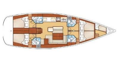 Location bateau Kalkara pas cher Oceanis 50