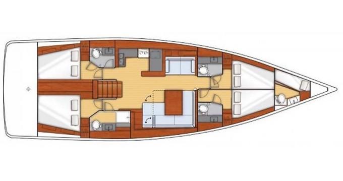 Location bateau Bormes-les-Mimosas pas cher Oceanis 55