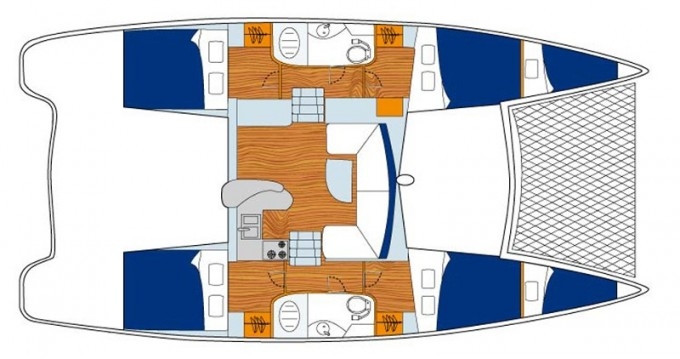Location bateau Marigot pas cher Sunsail 404