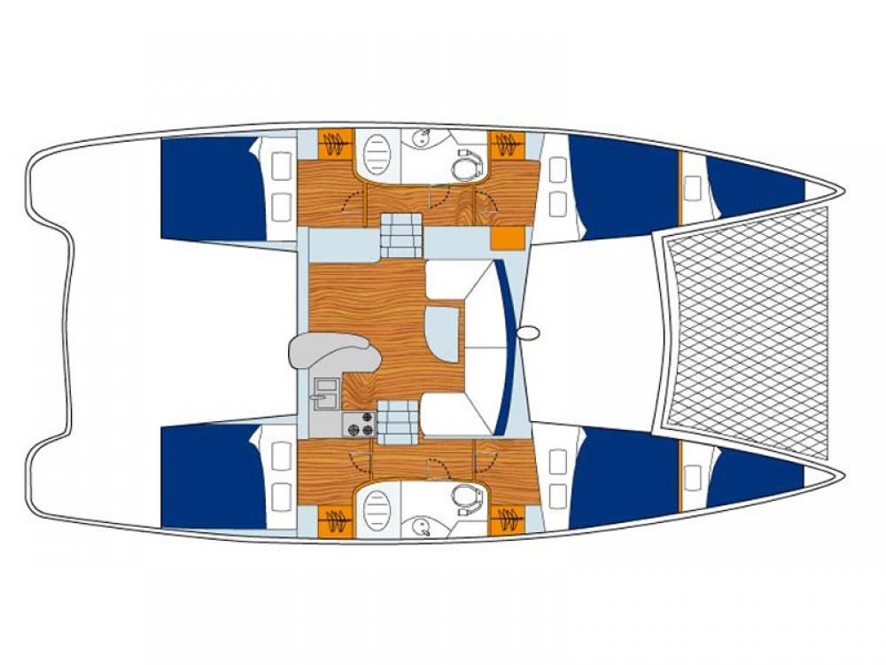 Location Catamaran à Victoria - Leopard Sunsail 404