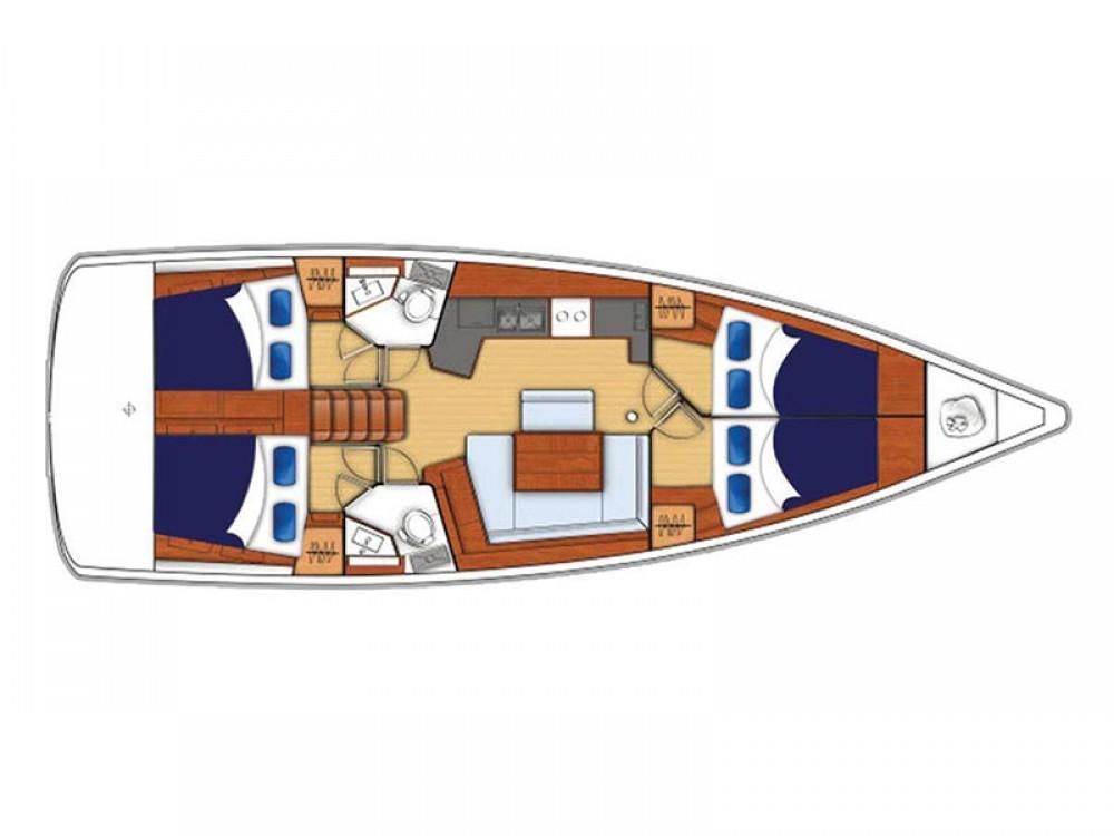 Location bateau Bénéteau Moorings 45.4 à Marina Gouvia sur Samboat