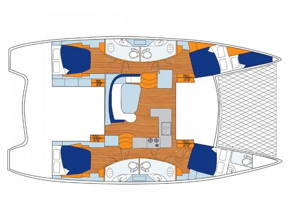 Location bateau ACI Marina Dubrovnik pas cher Sunsail 454