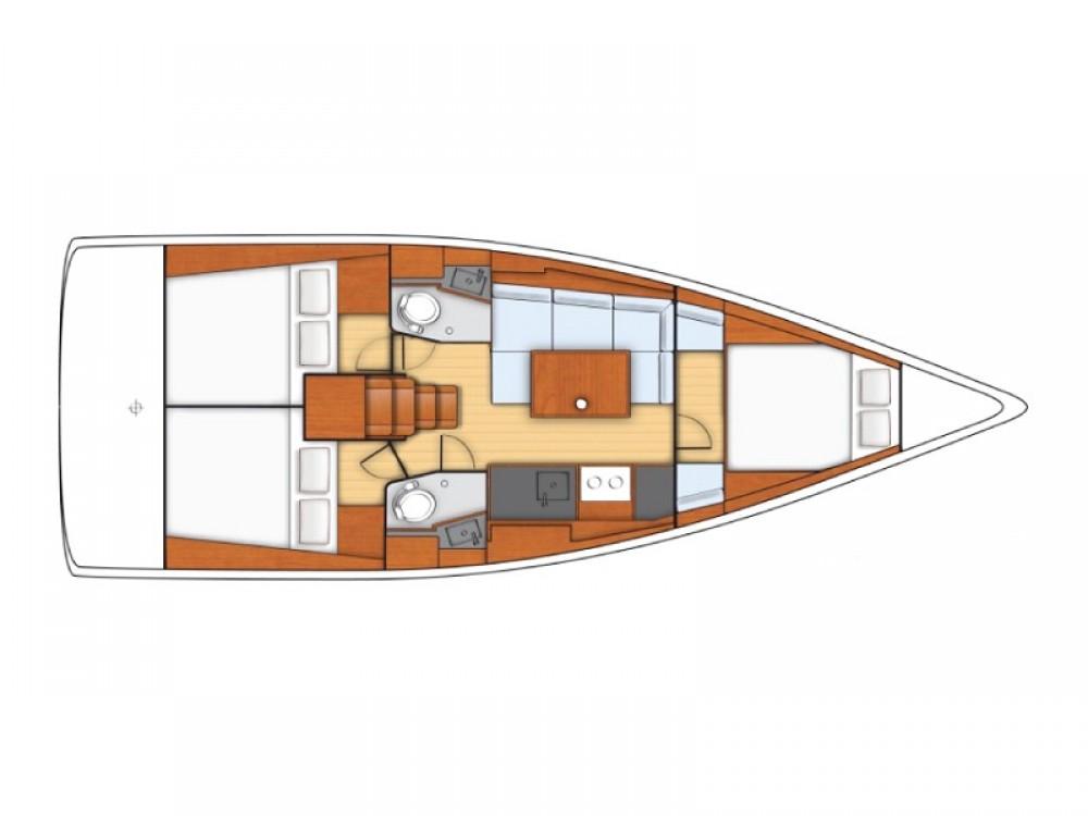 Location bateau Cannigione pas cher Sunsail 38