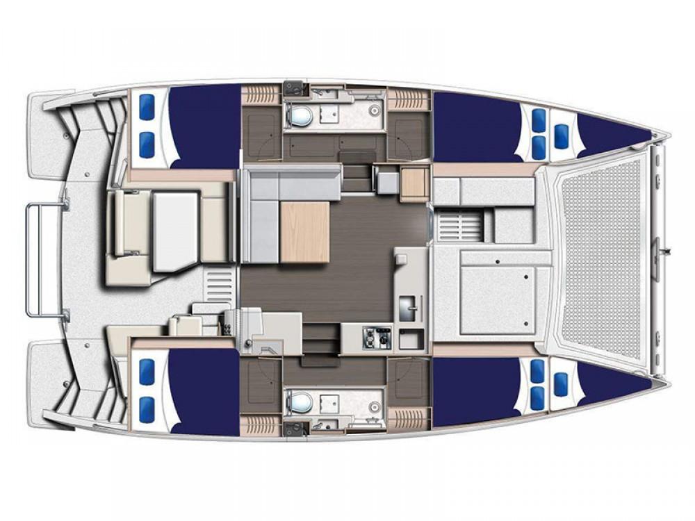 Location Catamaran à Stann Creek - Leopard Moorings 4000