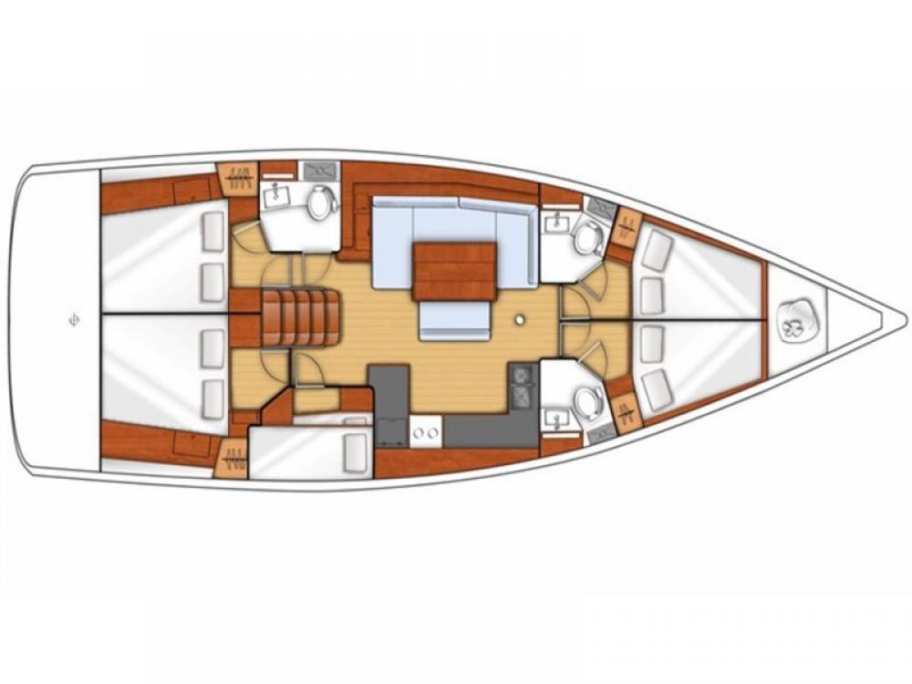 Location bateau Tropea pas cher Oceanis 48