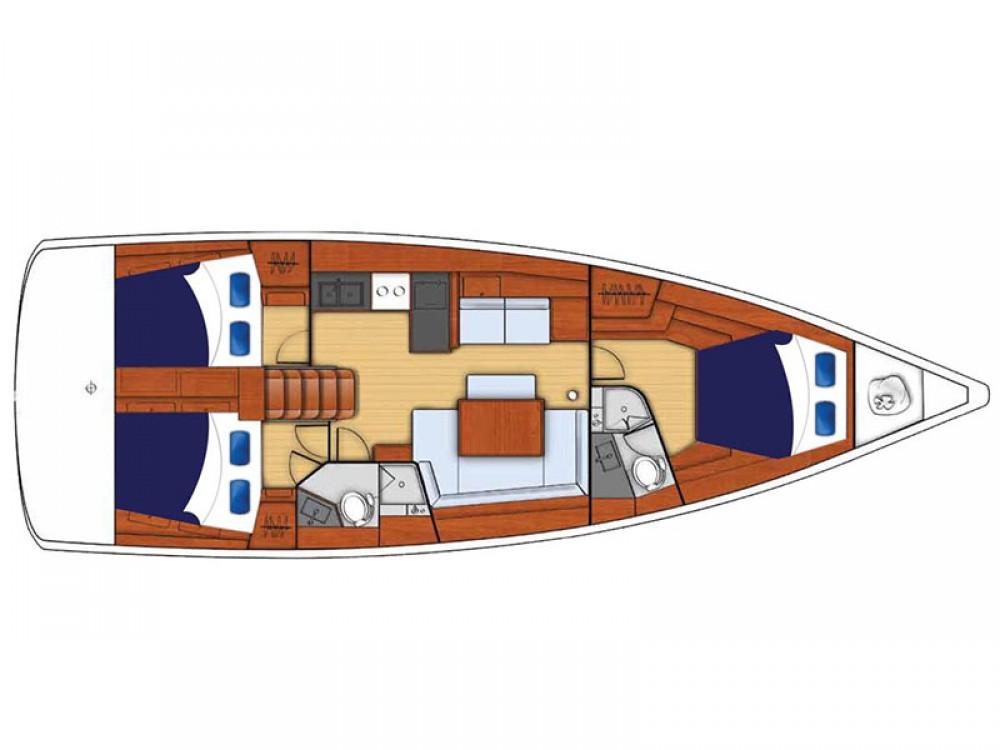 Location yacht à Bay of Zea - Bénéteau Moorings 45 sur SamBoat