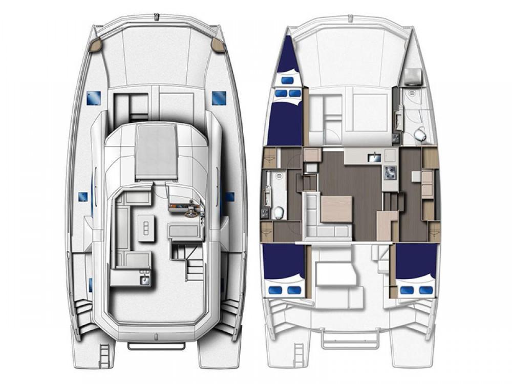Location Catamaran à Castries - Leopard Moorings 433 PC