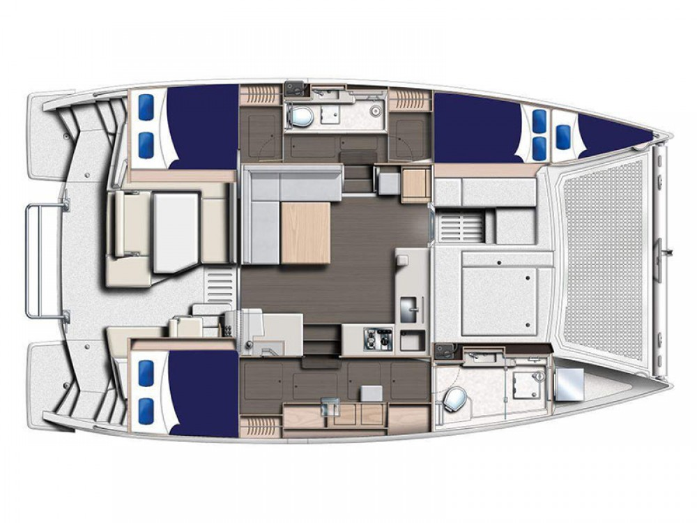 Louer Catamaran avec ou sans skipper Leopard à Victoria