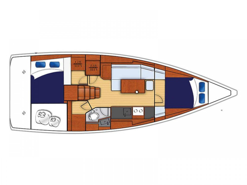 Location bateau Bénéteau Moorings 381 à Road Town sur Samboat