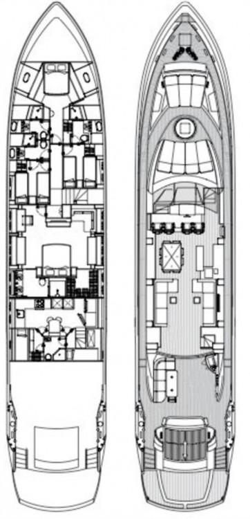 Location bateau Zadar pas cher Sunseeker Predator 108