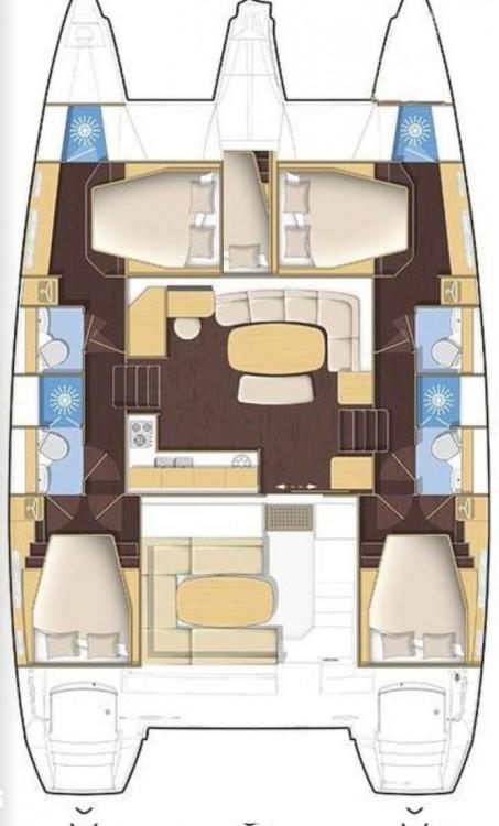 Location bateau Lagoon Lagoon 421 - 4 + 1 cab. à Baan Salak Phet sur Samboat