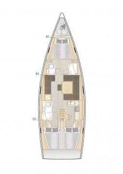 Location bateau Hanse Hanse 458 à Biograd na Moru sur Samboat